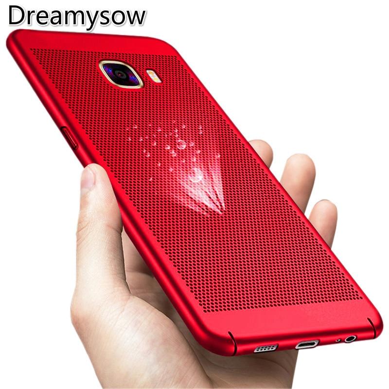 For Samsung Galaxy J2 J5 J7 plus Grand prime ON5 ON7 J1 J3 2016 C8 A3 A5 A7 2017 A8 A7 2018 note8 Cooling 360 PC Case Back Cover