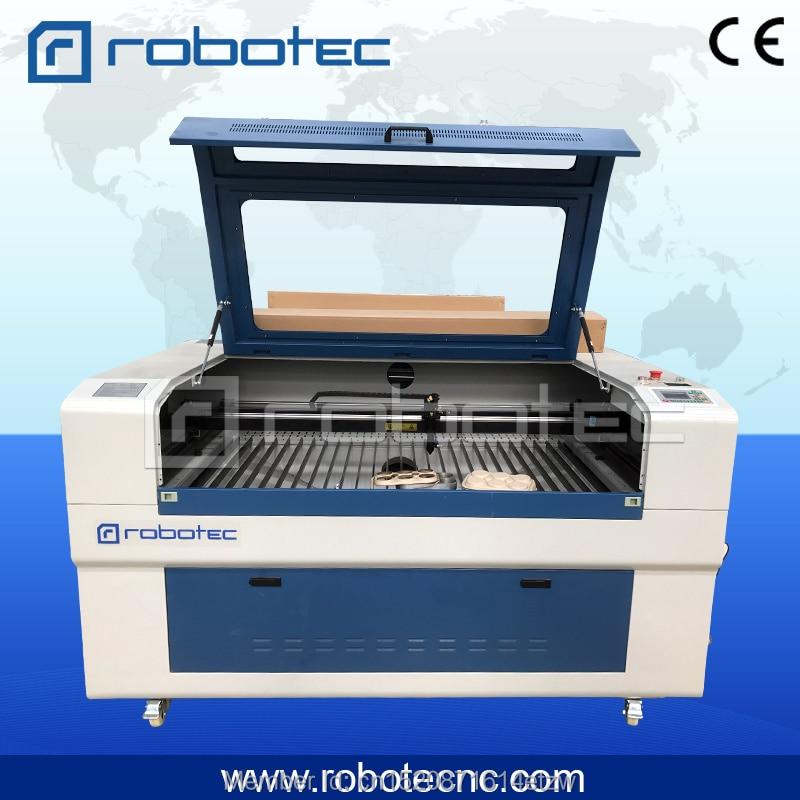 ROBOTEC Acrylic rubber plastic wood plywood MDF glass CO2 laser engraver 100w cutting machine 1390 laser cutting plywood mdf laser cutting machine cut wedding invitation card 6090 6040