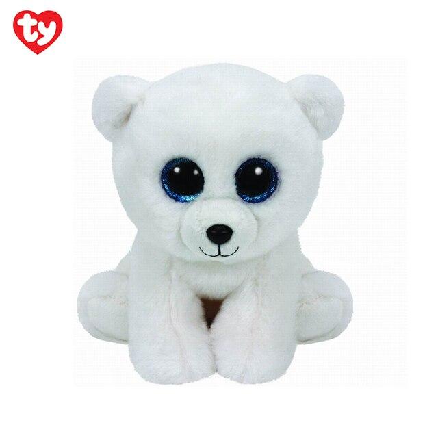 Stuffed Plush Animals for kids TY White Bear Arctic for girls 20 cm 42108