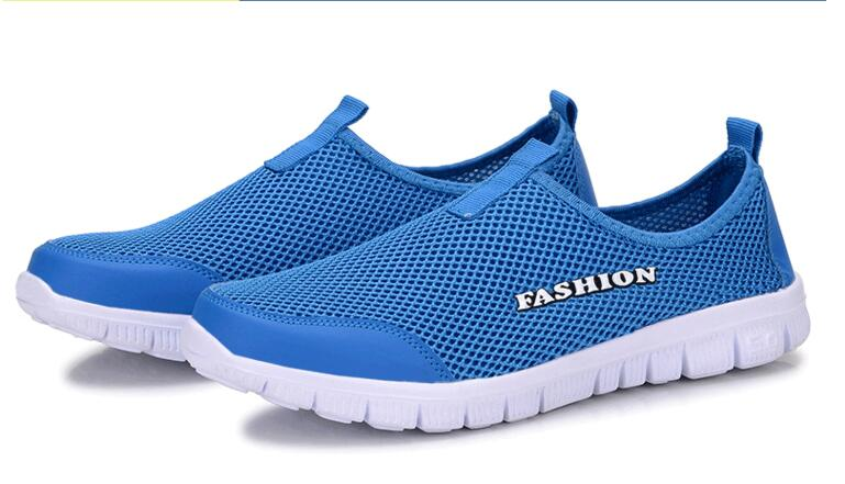 2018 New Fashion Summer mens men Casual Shoes Flats Shoes lovers Breathable Zapatillas Slipony Shoes Big Size 35-45