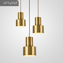 Artpad Nordic 5W Copper Gold Bronze Pendant Light Post-modern Parlor Bedroom Bedside Hotel Restaurant Hang Lighting Lamp