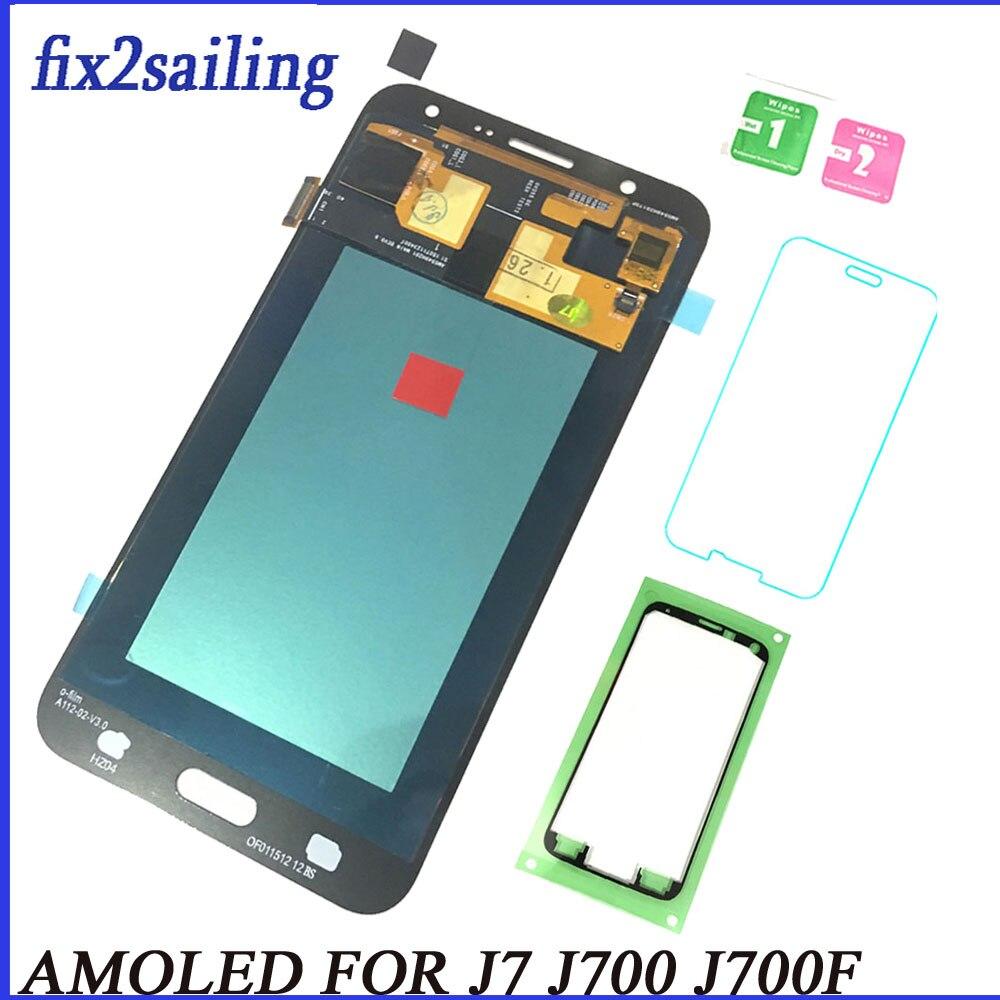 Nouveau Pour Samsung Galaxy J700 AMOLED LCD Affichage Écran Tactile J7 2015 J700 SM-J700F J700H J700M pantalla remplacement digitizer