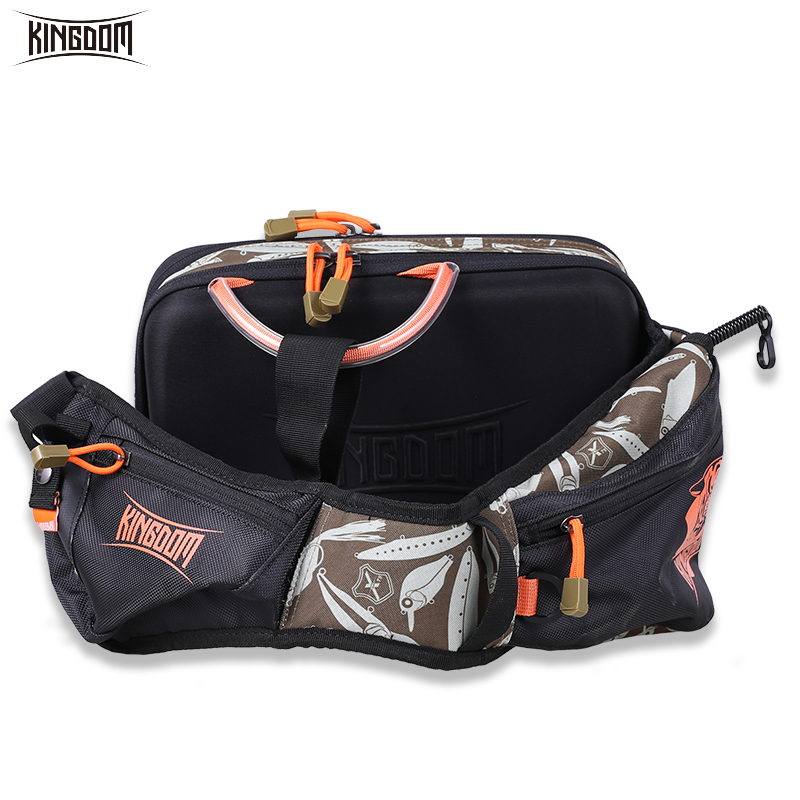 Kingdom Fishing Tackle Bag Waterproof 24 30 10cm Fishing Lure Bait Bag Belt Angler Waist Outdoor