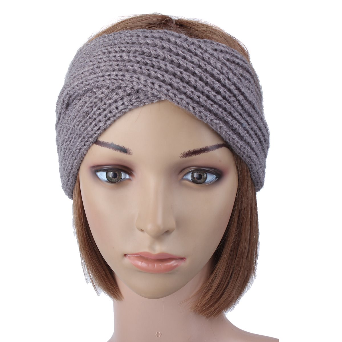 Women Crochet Wool Knit Cross-tie Headband Elastic Warm Turban Headbands  For Women Headband Knitted Hijab Hair Accessories NEW 0df91b2ad26