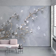 Modern minimalist TV background wall professional custom high-end mural factory wholesale wallpaper photo