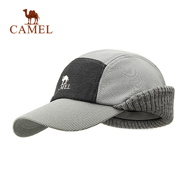 CAMEL Unisex Winter Hiking Hat Wool Thickened Baseball Cap Thermal  Windproof Waterproof Outdoor Sport Keep Ear Warm Climbing Hat 54323ddf5ae