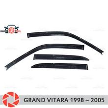 Оконный дефлектор для Suzuki Grand Vitara 1998-2005 дождевой дефлектор грязевая Защитная оклейка автомобилей украшения аксессуары литье
