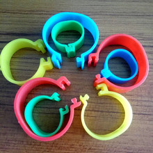 50Pcs 20mm 25mm Clip On Leg Band Rings for Chickens Ducks Hens Poultry Large ring