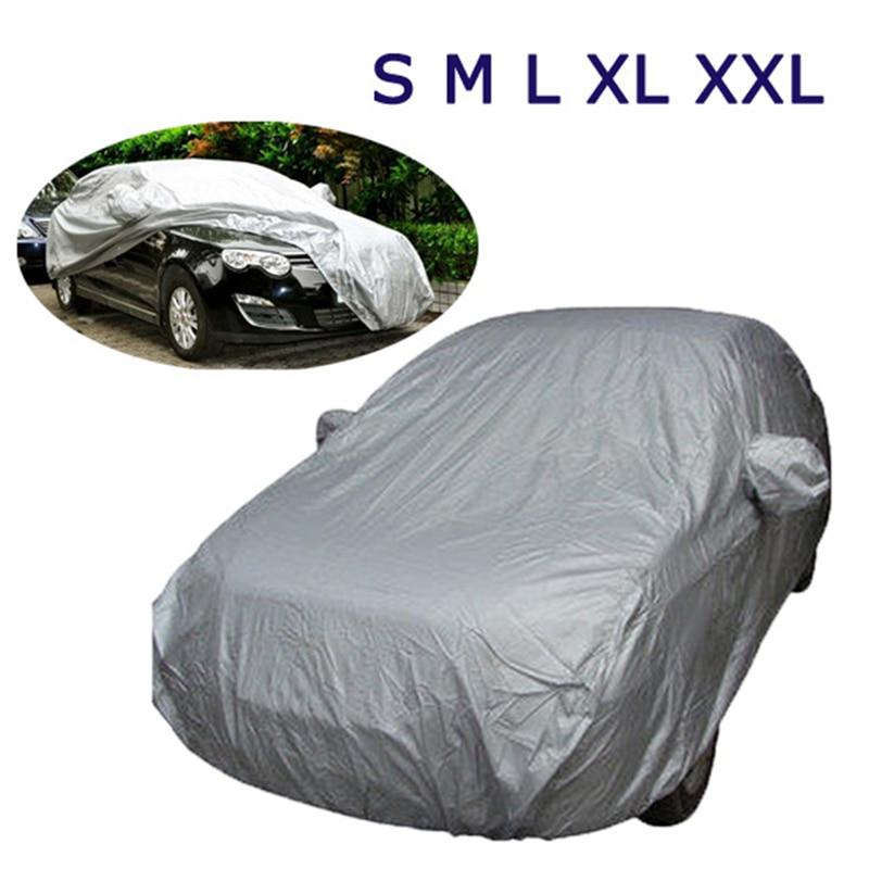 Kkmoon Full Car Cover Indoor Outdoor Sunscreen Heat Protection Dustproof Anti-UV Scratch Resistant Sedan Universal Suit M