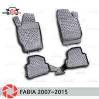 Tapis de sol pour Skoda Fabia 2007 ~ 2015 tapis antidérapant polyuréthane protection contre la saleté accessoires de style de voiture intérieure
