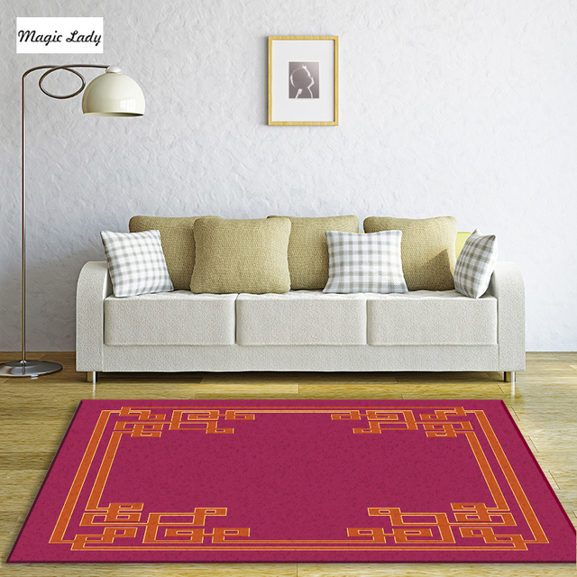 Carpet For Living Room Bedroom Texture Pattern Decorations Clical Shapes Abstract Lines Curls Cultural Burgundy Brown