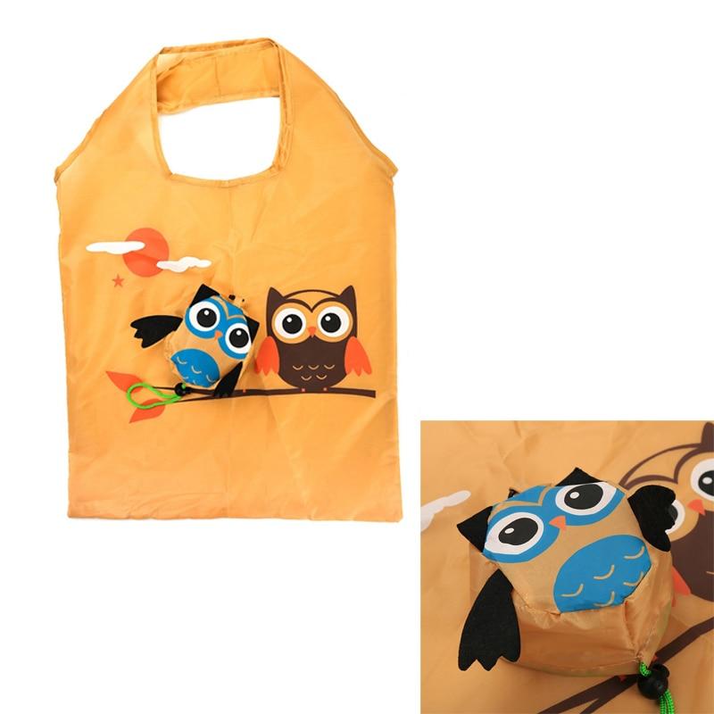 2018 Cute Animal Owl Shape Folding Shopping Bag Eco Friendly Tote Bag Portable Ladies Gift Foldable Reusable Travel Shoulder Bag