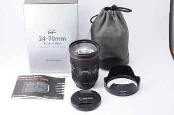 Objectif Zoom Standard Canon EF 24-70mm f/2.8L II USM pour 1DX 5DS 5DSR 5D IV 5D III 6D II 7D II 80D 800D 700D
