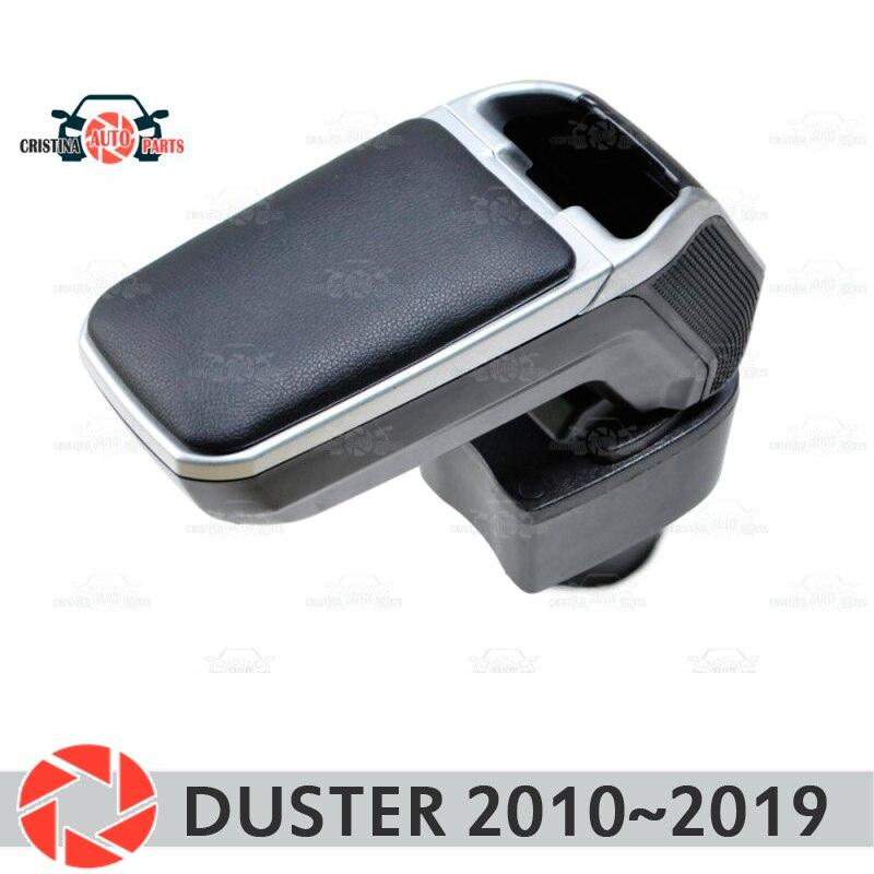 Bracciolo per Renault Duster 2010 ~ 2019 auto bracciolo centrale console scatola di immagazzinaggio di cuoio posacenere accessori auto styling vstavnoi