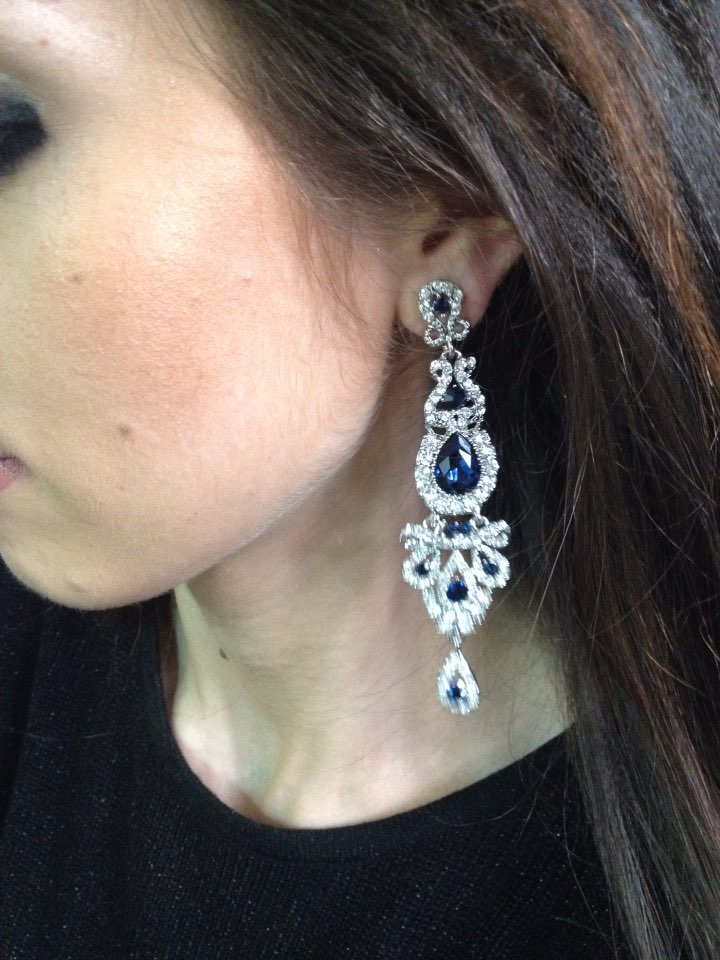 29 Reviews For Large Crystal Drop Earrings