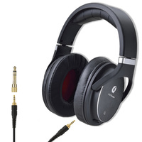Luxury Gift Wired Long Cable Black Pro Audio Audiophile HD HiFi Hi Fi High Fidelity Headphones Without Mic for Music Player