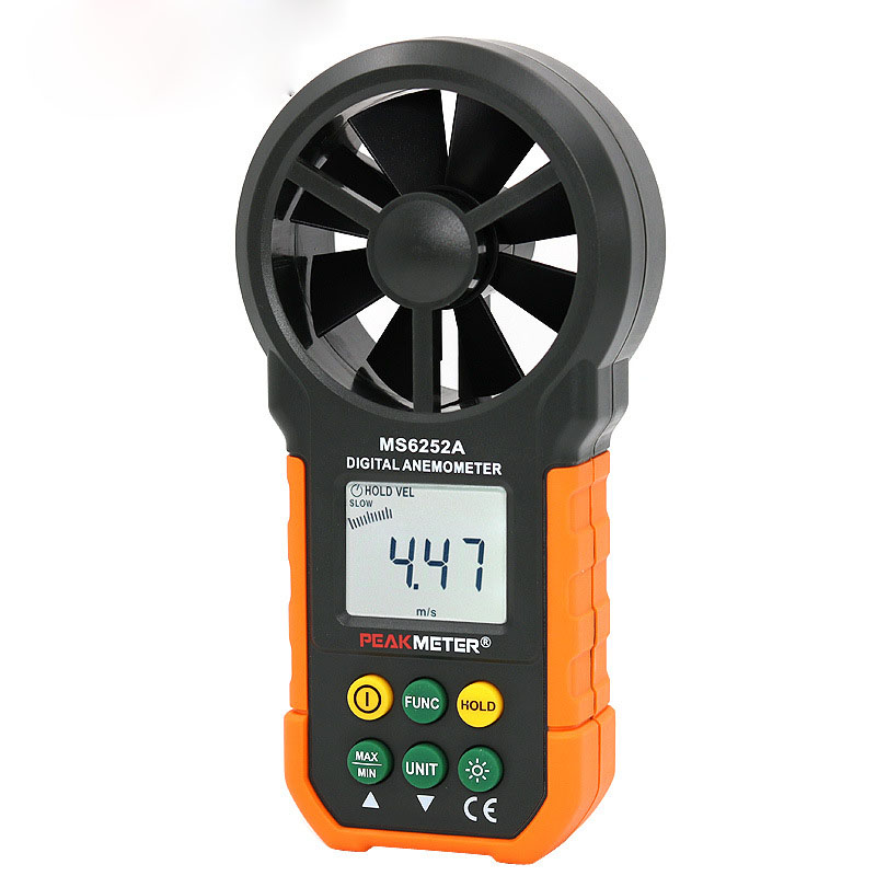 MS6252 High-precision anemometer, industrial wind speed and air temperature measuring instrument, digital anemometer