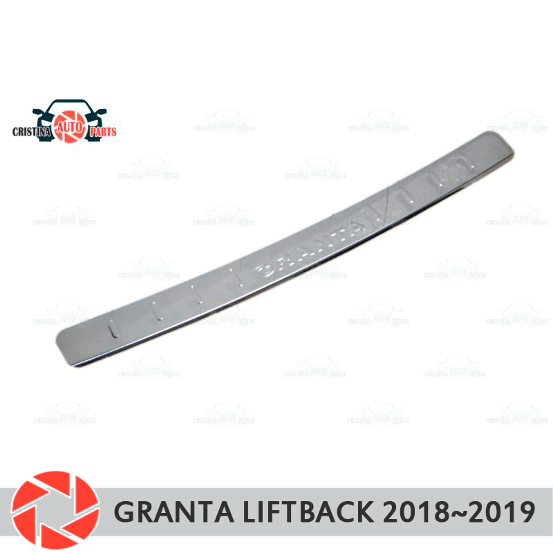 Plate cover rear bumper for Lada Granta Liftback 2018~ guard protection plate car styling decoration accessories molding stamp motorcycle scooter front sprocket cover panel left engine guard chain cover protection for honda msx1252013 2016 msx125sf 13 16