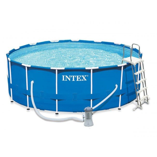 Scaffold round pool for garden summer leisure bathing summer Intex size 457 х122см, item No. 28242