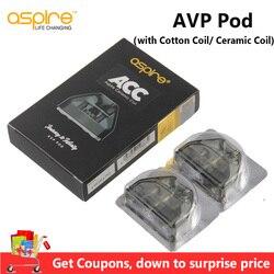 원래 열망 avp 포드 2ml vape 포드 카트리지 메쉬 코일 1.2ohm 니크롬 1.3ohm 열망 avp aio 키트 기화기에 대한 세라믹 코일