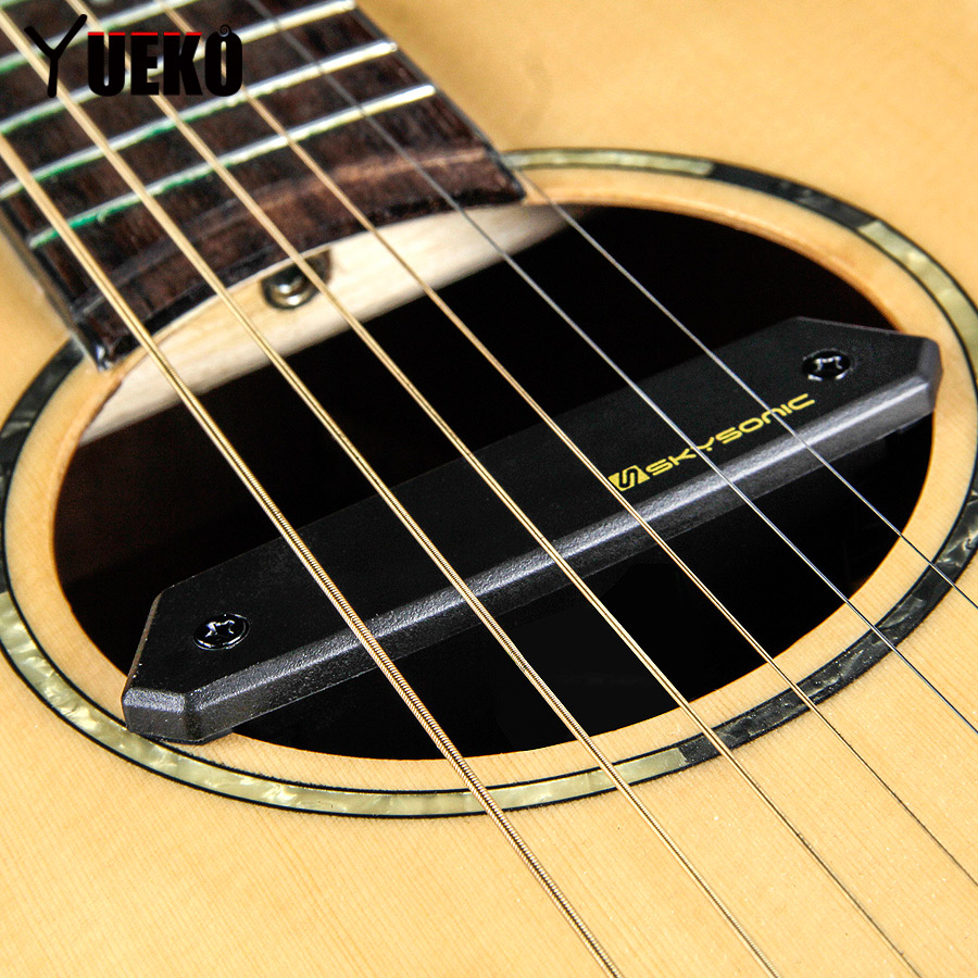 SKYSONIC T-902 Magnetic Soundhole Pickup Guitar Active Dual Systems Pickup Acoustic Guitar Accessories кресло надувное intex собака цвет белый 65 х 64 х 74 см