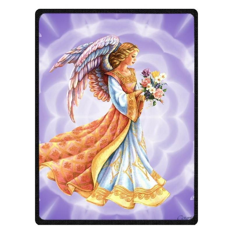 Angel Art Warm Fleece Throw Blanket Super Soft Flannel Manta For Sofa/Bed/Car/Plane/Travel/Baby Bedspread