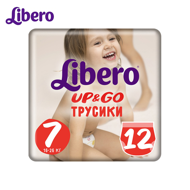 Трусики-подгузники Libero Up&Go Size 7 (16-26 кг), 12 шт.