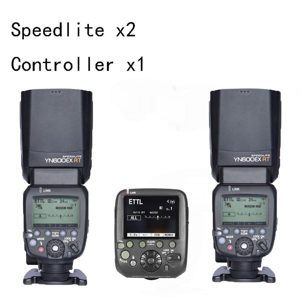 Original Yongnuo YN600EX-RT II TTL HSS Master Flash Speedlite 1/8000s 2.4G Flash +SN-E3-RTs as ST-E3-RT Controller for Canon updated yongnuo yn600ex rt ii auto ttl hss flash speedlite yn e3 rt controller for canon 5d3 5d2 7d mark ii 6d 70d 60d 650d