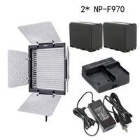 Yongnuo YN-600 3200-5500 k אור LED וידאו, מתאם AC, + 2 NP-F970 + מטען