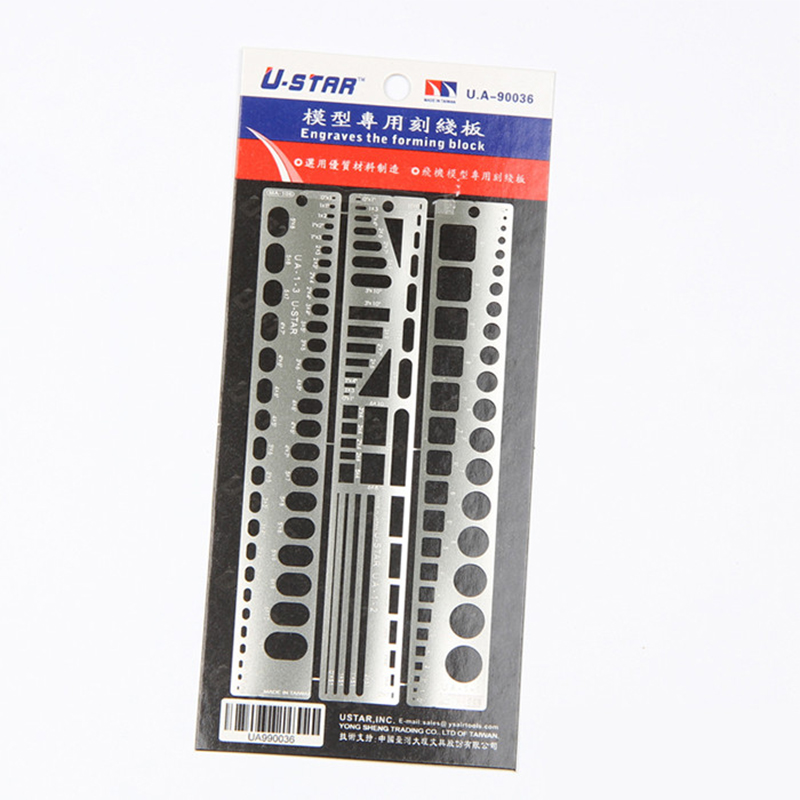 Ustar 90036 Model Engraved The Forming Block Board For Aircraft 3Pcs Craft Tools Accessory