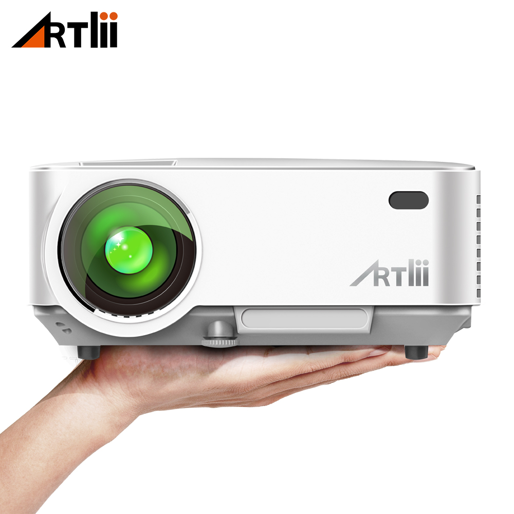 Artlii Mini Portable Project Home Theater Video Projector Support 1080P LCD To Watch Sports Matches or Movie For Family or Party