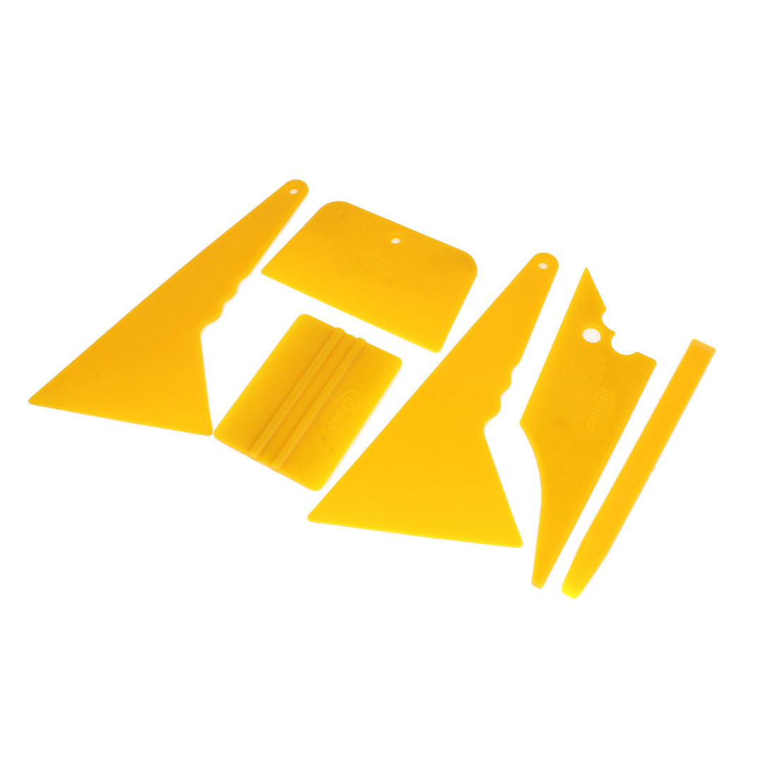 UXCELL Yellow Car Window Tint Tool Vinyl Film Scraper Installation Kit Set