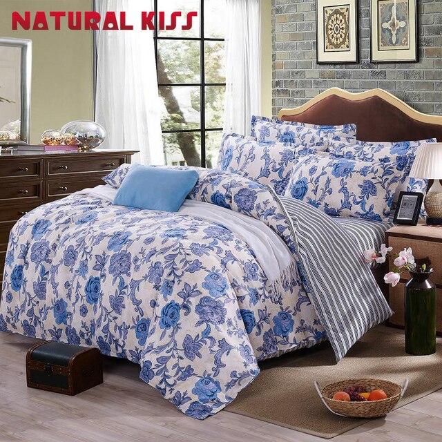 elegant floral ensemble de literie polyester linge de lit en coton ensembles 4 pcs couvre