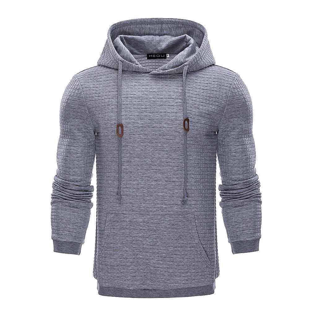 Hoodies Men Brand Male Long Sleeve Solid Color Hooded Sweatshirt Mens Hoodie Tracksuit Sweat Coat Casual Streetwear