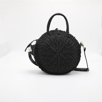Handmade Straw Round Bags