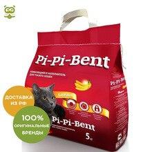Наполнитель Pi-Pi-Bent Банан комкующийся, 5 кг.