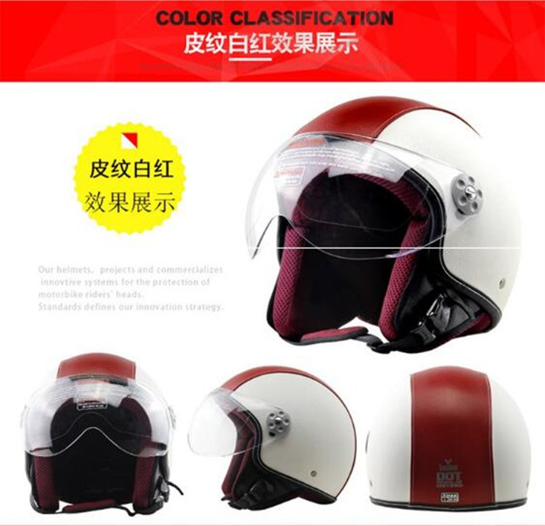 New Synthetic Leather Motorcycle Helmet Retro Vintage Cruiser Chopper Scooter Cafe Racer Moto Helmet 3/4 Open Face Helmet DOT new leather motorcycle helmet retro vintage steampunk cruiser chopper scooter cafe racer moto helmet 3 4 open face helmet dot