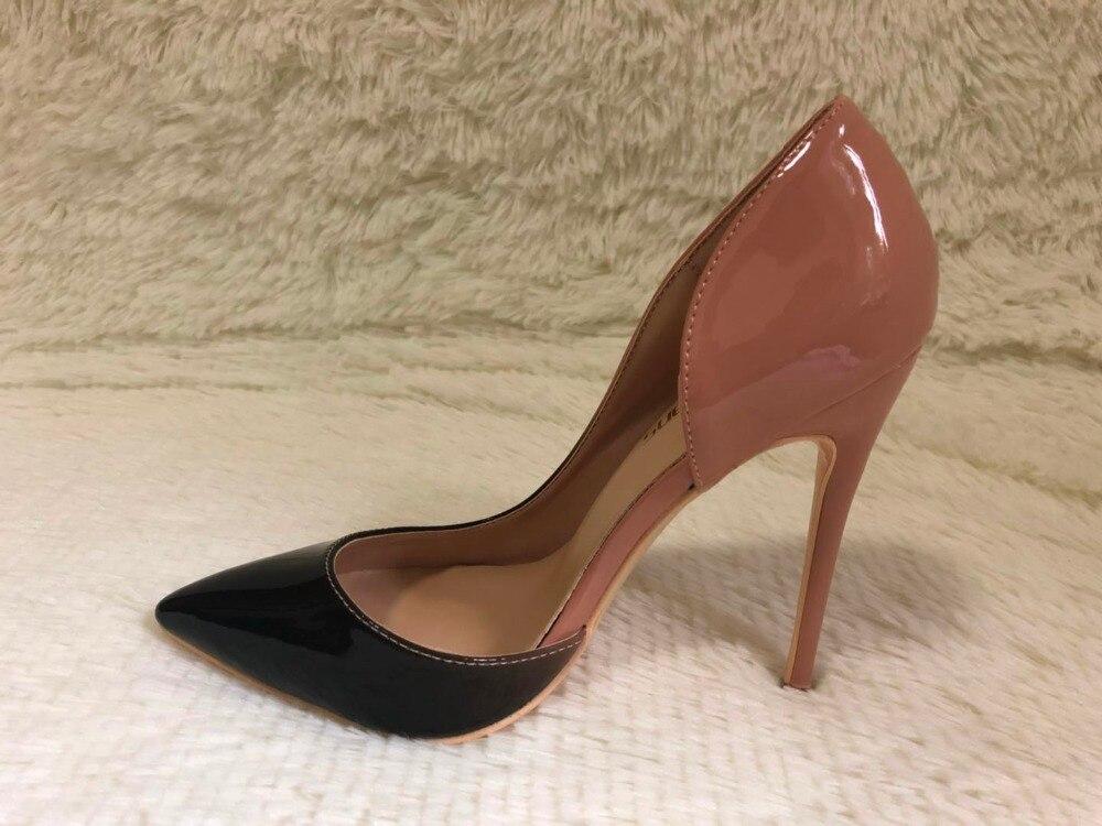 L'ARC BRANDD Sexy femmes mince haute talons de brevet femmes pompes parti chaussures 8 cm 10 cm 12 cm talons haute femmes sexy de mode sheos
