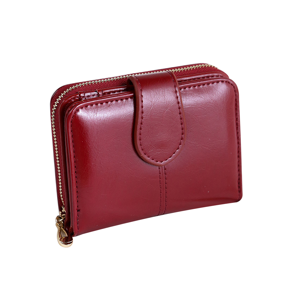 Vintage Faux Leather Women Wallet Small Card Holder Short Purse Christmas Gift 30 pcs lot vintage food postcard landscape greeting card christmas card birthday card message gift cards