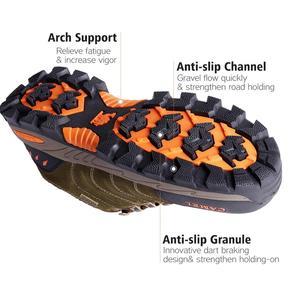 Image 4 - Deve erkekler kadınlar yürüyüş ayakkabıları hakiki deri dayanıklı kaymaz sıcak nefes açık dağ tırmanışı trekking ayakkabıları