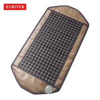 BYRIVER 98*50CM EMF Tourmaline Mat Far Infreared Heating Jade Stone Ceratonic Health Mattress Good Healthcare Gifts for Parents
