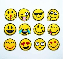 120pcs Mixed Funny Smile Face Patches Appliques Diy Iron On Emoji Stickers Sewing Badge Embroidered Cute Emoticons Patchwork