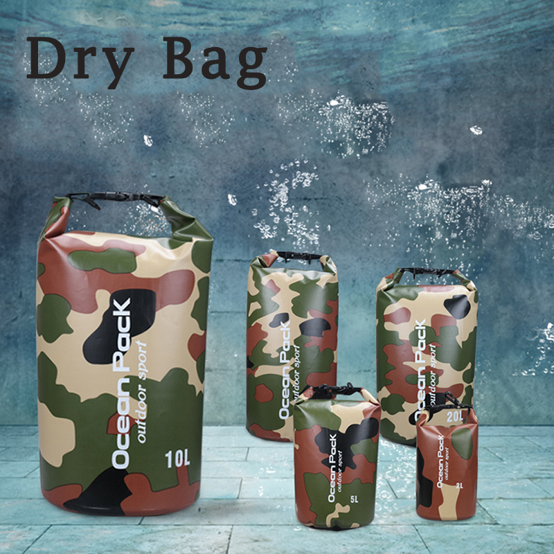 5L 10L 15L 20L Swimming Waterproof Bags Storage Dry Sack Bag For Canoe Kayak Rafting Outdoor Sport Bags Travel Kit Equipment цена