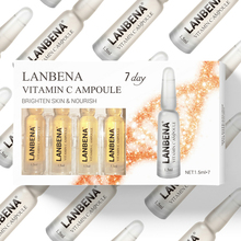 LANBENA Vitamin C Ampoule Face Serum Whitening Remover Freckle Speckle Fade Dark Spots Moisturizing Anti-Aging Essence 7pc/lots