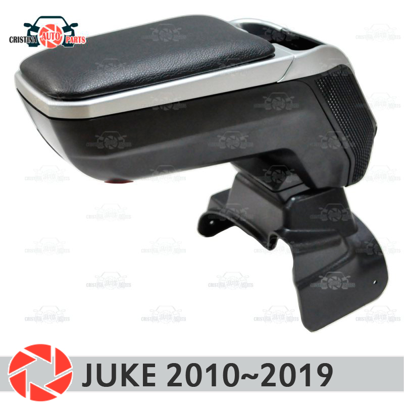 цена на Armrest for Nissan Juke 2010~2019 car arm rest central console leather storage box ashtray accessories car styling m2