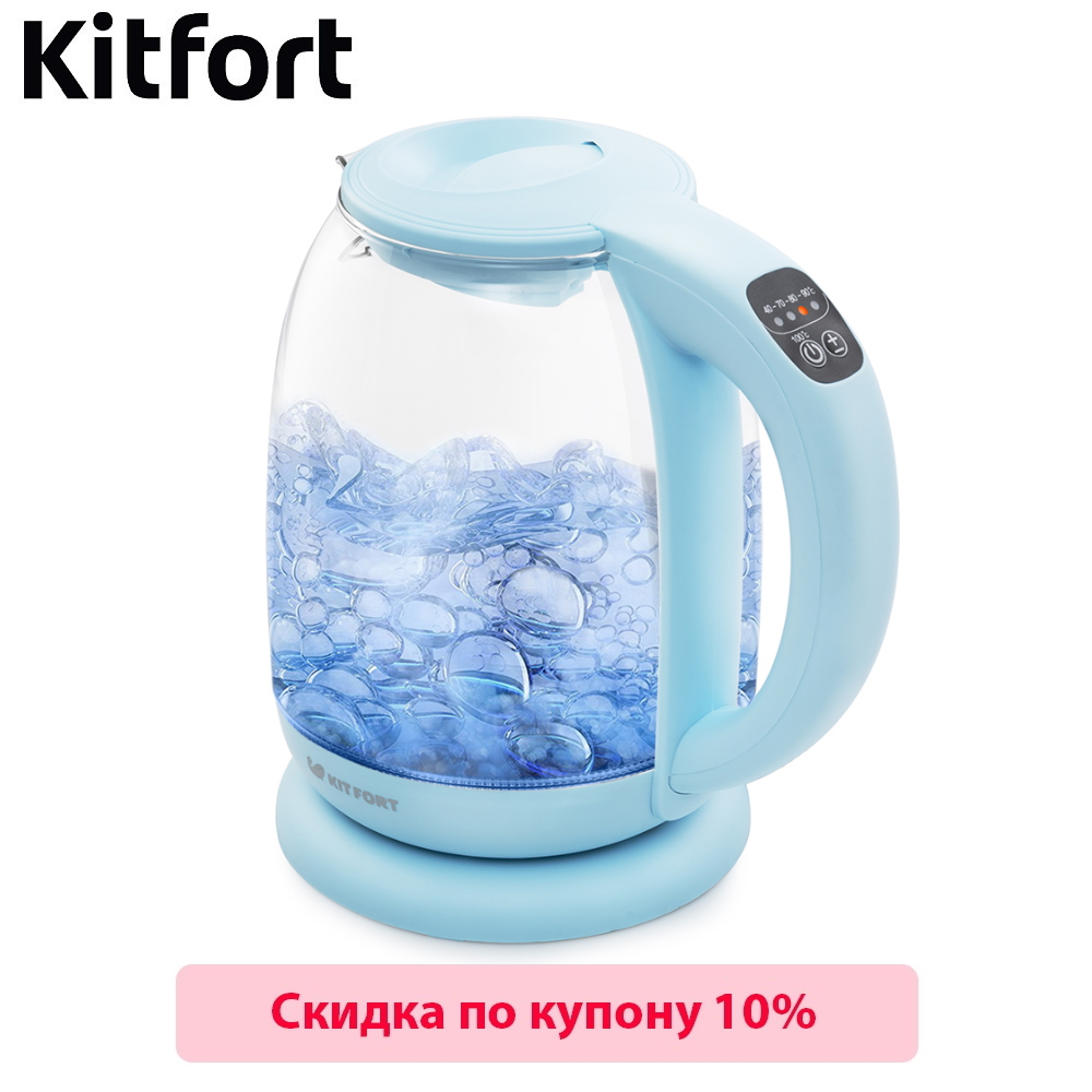 Electric Kettle Kitfort KT-640 Kettle Electric Electric kettles home kitchen appliances kettle make tea Thermo