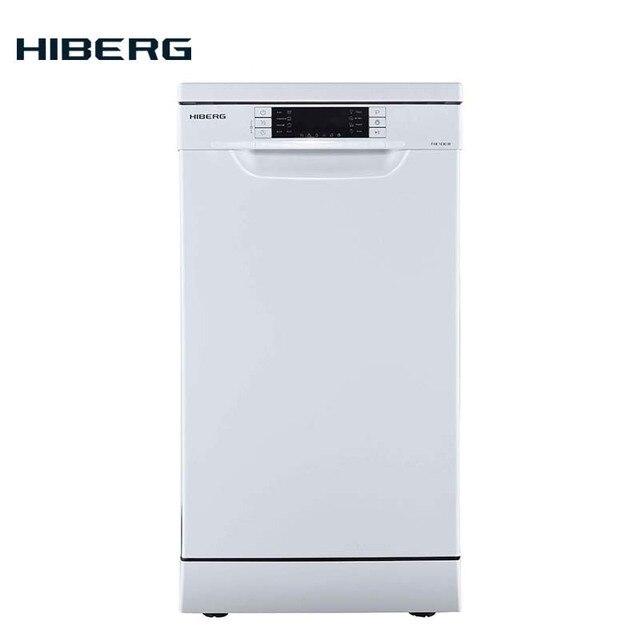Посудомоечная машина HIBERG F 48 1030 W 3 корзины, 10 комплектов, Класс А++, Расход воды за цикл 9 литров