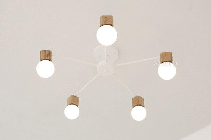 UTB8pJqYhf2JXKJkSanrq6y3lVXaN Nordic iron wood ceiling Light Modern home Living Room Bedroom aisle LED Ceiling Lamp Luminaire Lampara Techo