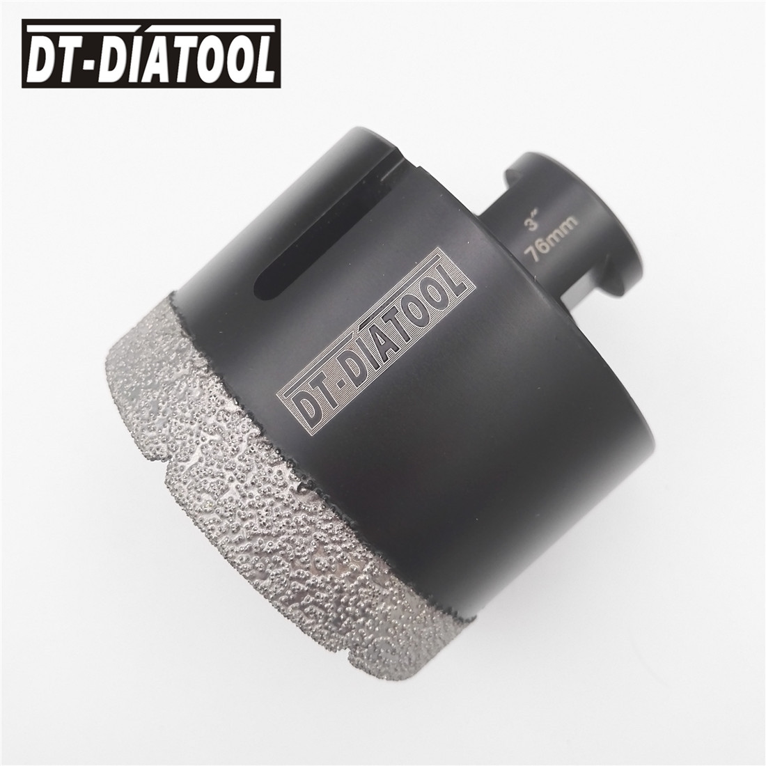 Diameter 3 76MM Vacuum brazed diamond Dry drilling bits5/8-11 thread Hole saw Drill core bits for ceramic tile marble granite hole saw 2diamond core drill bits for drilling for stone and concrete dry drill bit