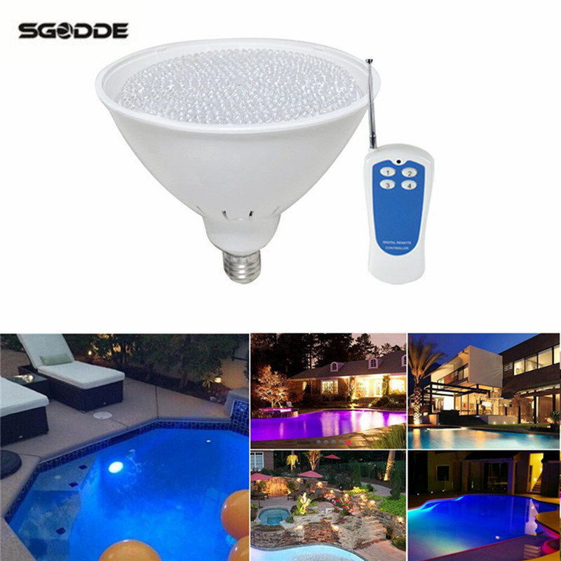Swimming Pool Light RGB LED Par56 LED Pool Light Fountain 40W 12V Bulb Lamp Underwater for Aquarium Piscina With Remote Control